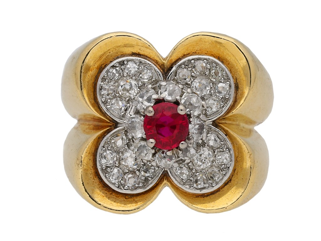 Van Cleef & Arpels ruby and diamond ring berganza hatton garden