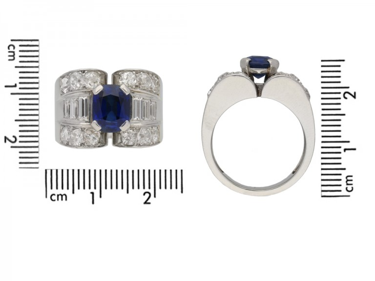 Mauboussin sapphire and diamond ring berganza hatton garden