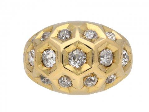 Cartier diamond honeycomb ring berganza hatton garden