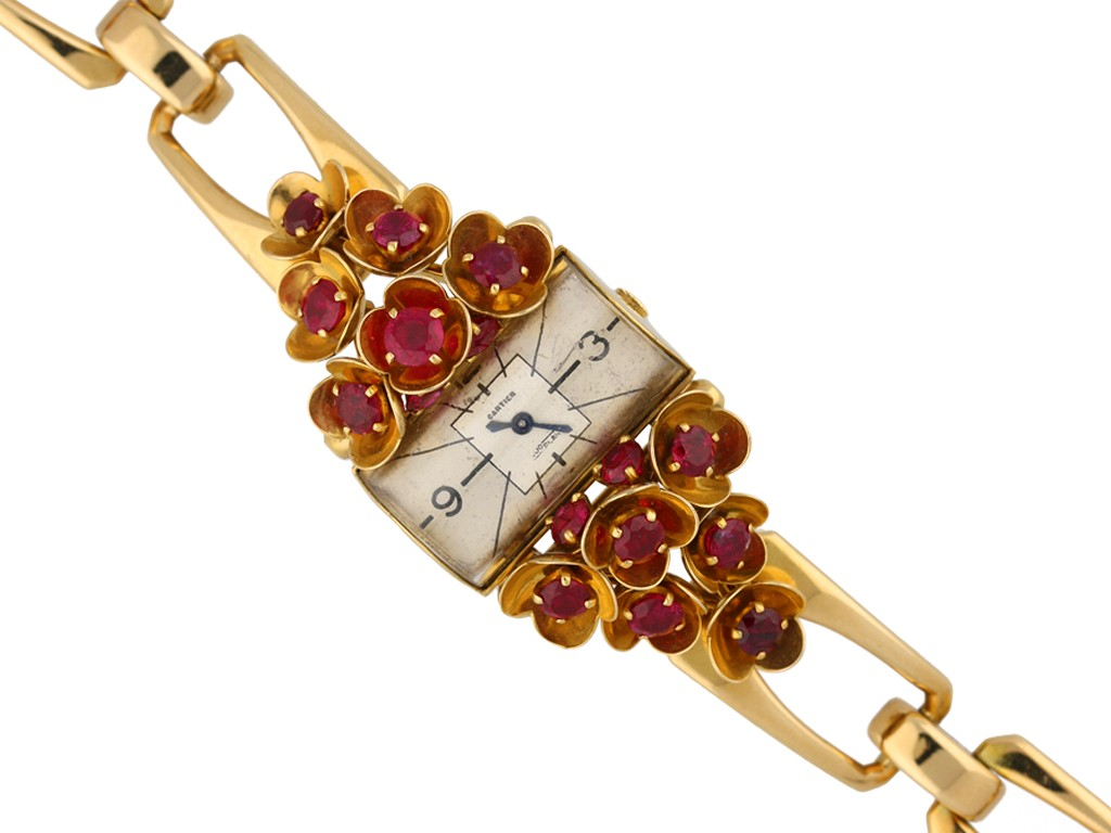 Cartier ruby set watch berganza hatton garden