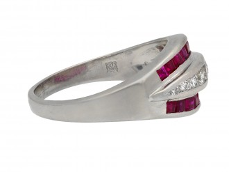 Ruby and diamond ring, American berganza hatton garden