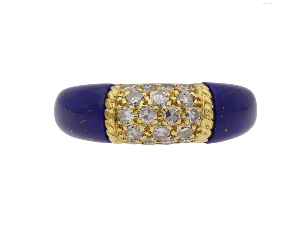 Van Cleef & Arpels diamond lapis ring berganza hatton garden