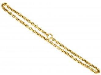 Antique 15 carat yellow gold chain berganza hatton garden