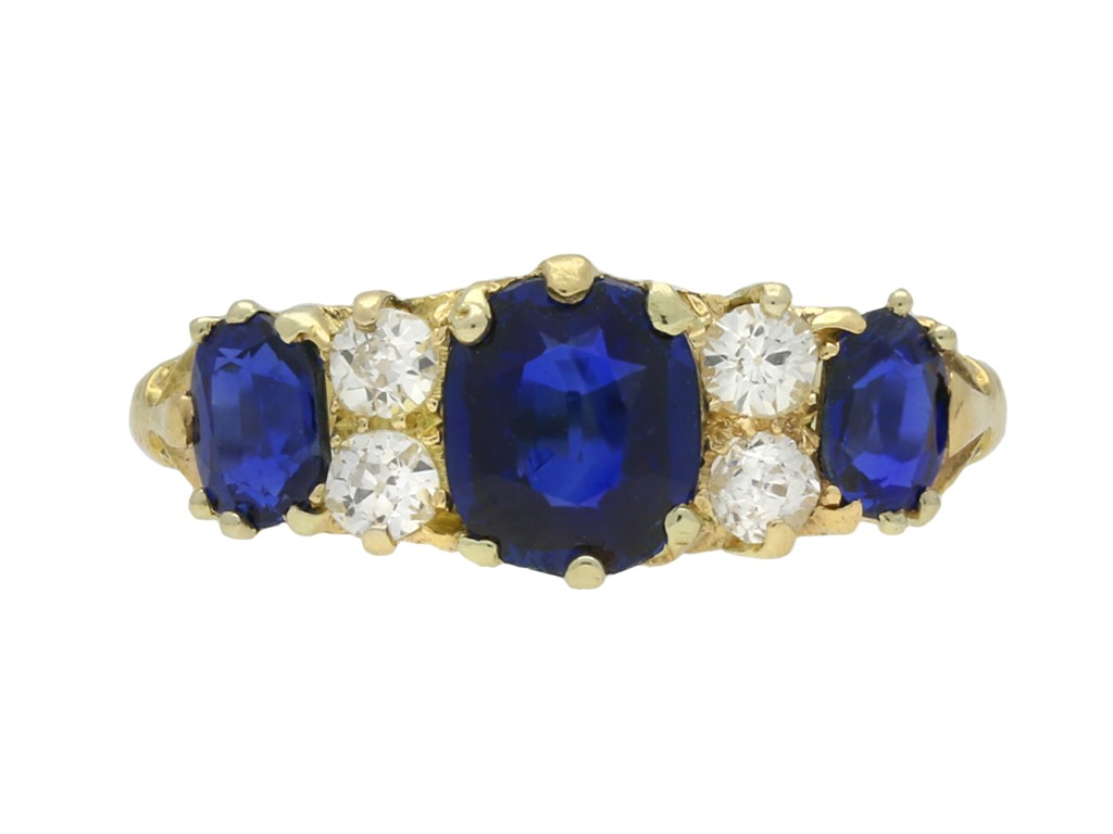 Victorian sapphire and diamond ring berganza hatton garden