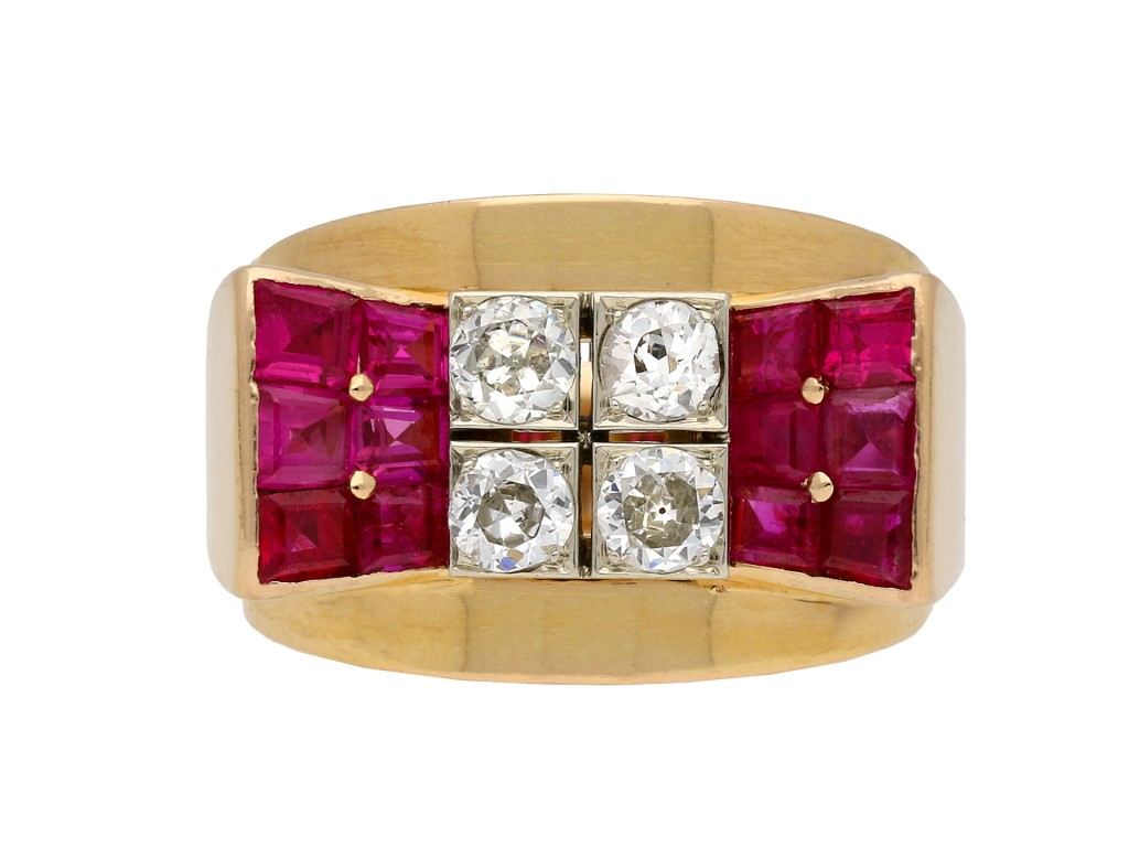 Mauboussin ruby and diamond cocktail ring berganza hatton garden
