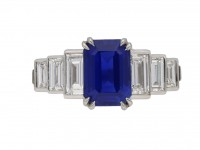 Kashmir sapphire and diamond ring berganza hatton garden