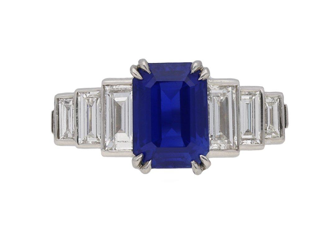 Kashmir sapphire and diamond ring berganza hatton garden