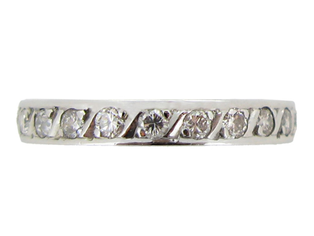 front view Diamond set eternity ring, circa 1950.