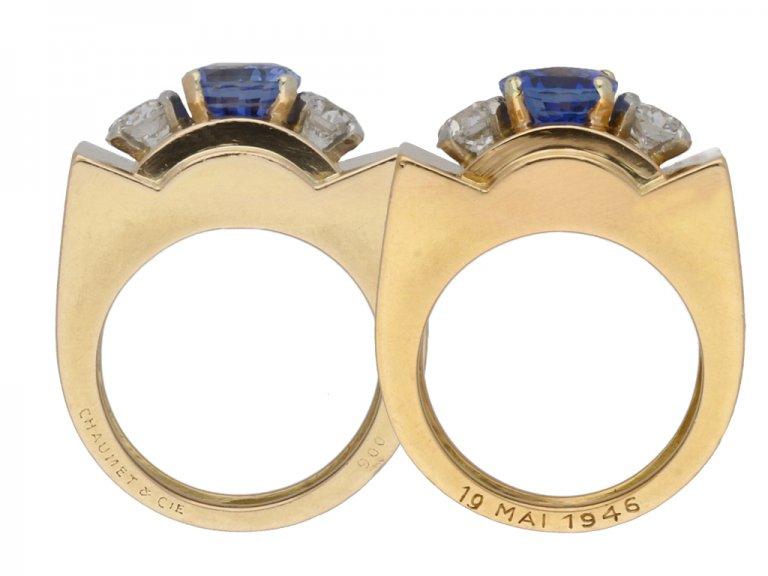 Chaumet Ceylon sapphire and diamond ring berganza hatton garden