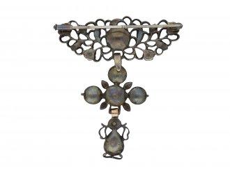 Georgian diamond brooch in silver hatton garden