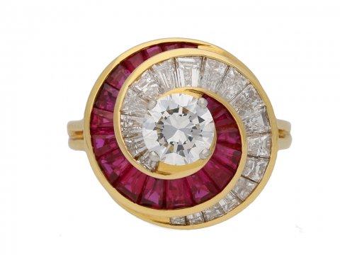 Oscar Heyman Brothers ruby diamond ring berganza hatton garden