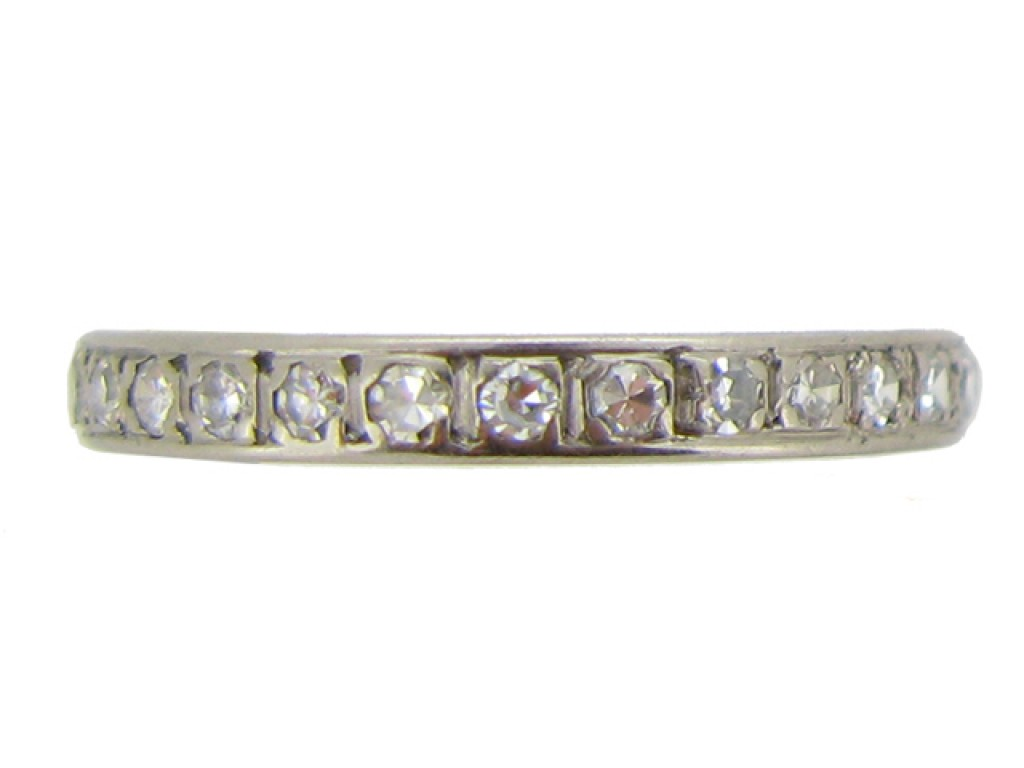front view Vintage diamond eternity ring, circa 1950.