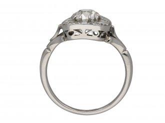Cushion shape diamond coronet cluster ring hatton garden berganza