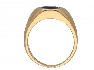 Sapphire solitaire dress ring berganza hatton garden