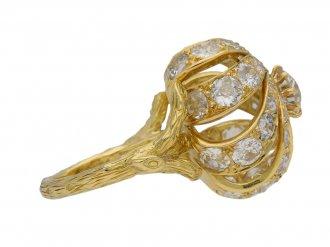 Sterle of Paris diamond cocktail ring berganza hatton garden