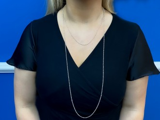 Pearl chain necklace in platinum hatton garden