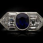 Yard Inc. Art Deco sapphire and diamond ring, American, circa 1925.