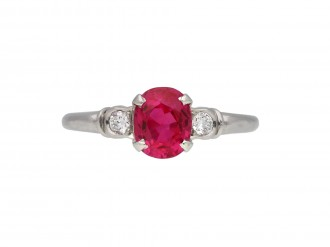 Lambert Bros. ruby and diamond ring berganza hatton garden