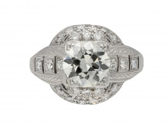 Old cut diamond cluster ring berganza hatton garden