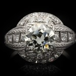 Old cut diamond cluster ring, circa 1920.