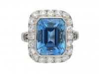 Tiffany & Co. aquamarine diamond ring berganza hatton garden