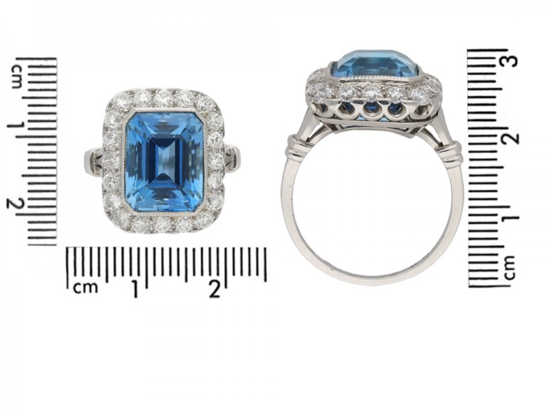 Tiffany & Co. aquamarine diamond ring berganza hatton garden