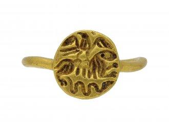 Medieval gold intaglio ring hatton garden berganza