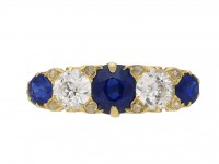 Antique sapphire and diamond ring berganza hatton garden