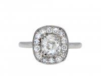 Old mine diamond coronet cluster ring hatton garden