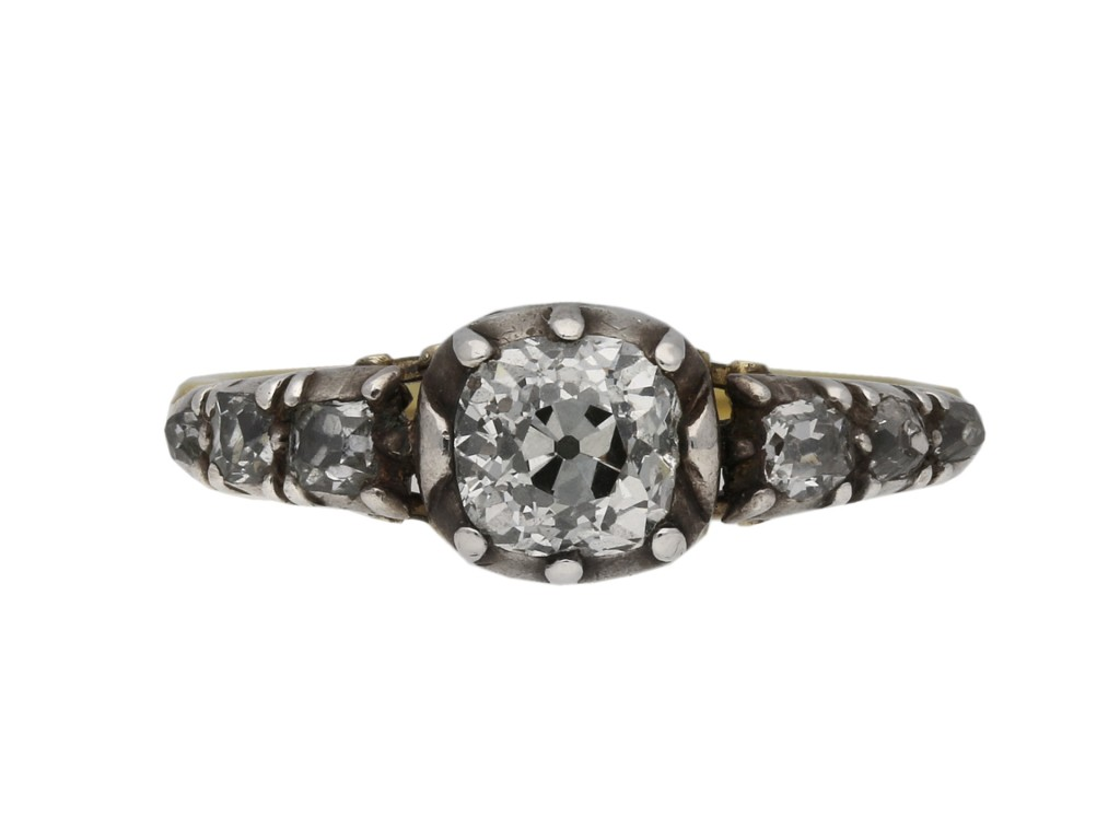 Early Victorian diamond ring berganza hatton garden