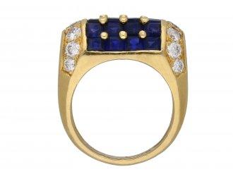 Oscar Heyman Brothers sapphire diamond ring hatton garden berganza