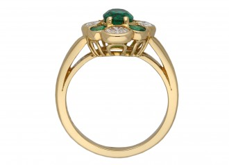 Oscar Heyman Brothers emerald diamond ring berganza hatton garden