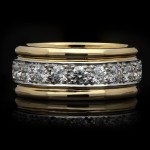 Oscar Heyman Brothers vintage diamond band ring, American, circa 1960.