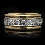 Oscar Heyman Brothers vintage diamond band ring, American, circa 1960.