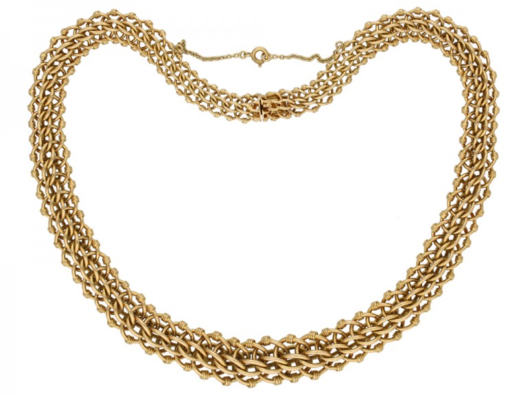 Vintage intricate necklace berganza hatton garden