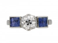 Art Deco diamond and sapphire ring berganza hatton garden