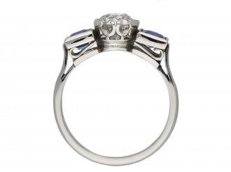 Art Deco diamond and sapphire ring berganza hatton garden