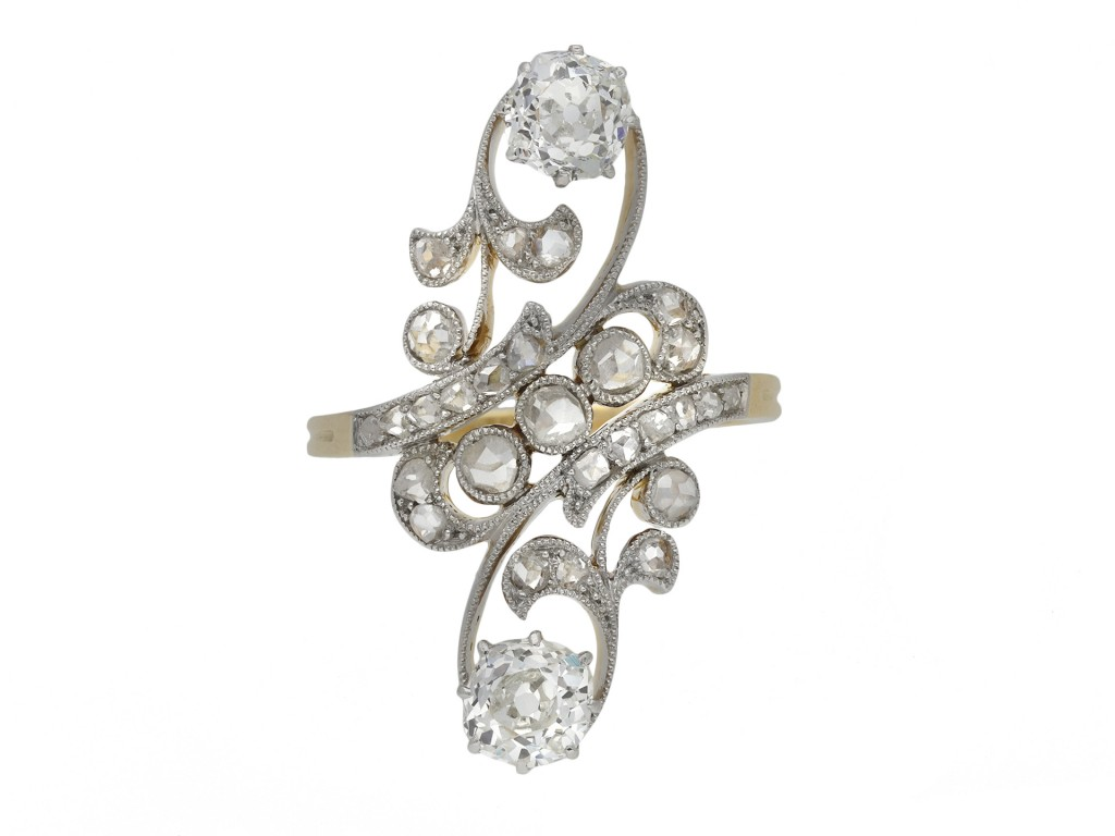 Belle Époque diamond cluster ring berganza hatton garden