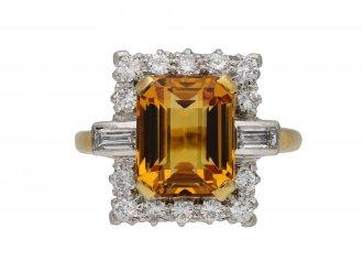 Topaz and diamond cluster ring hatton garden berganza