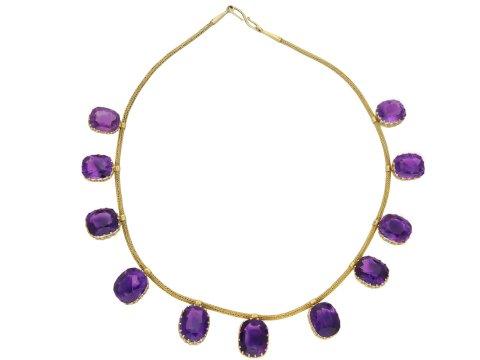 Antique amethyst necklace hatton garden