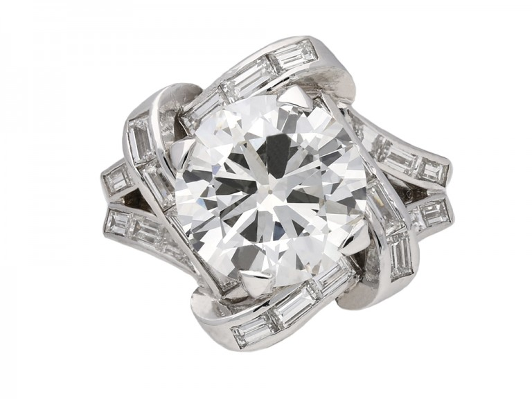 Mauboussin diamond cluster ring berganza hatton garden