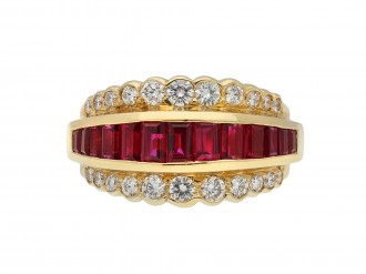 Oscar Heyman Brothers vintage ruby diamond ring hatton garden