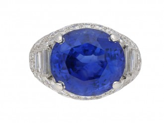 Oscar Heyman Brothers sapphire diamond ring berganza hatton garden