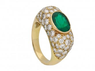 Oscar Heyman Brothers emerald diamond ring berganza hatton garden