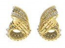Tiffany & Co. vintage diamond clip earrings, circa 1960s.
