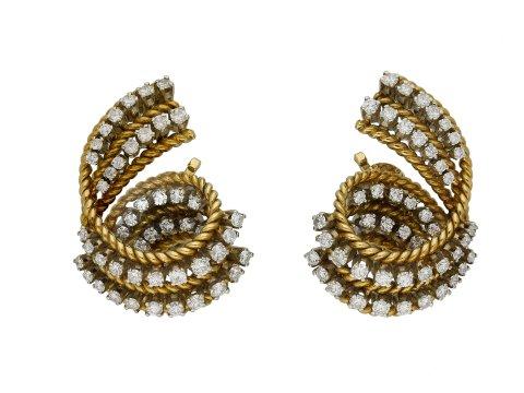 Tiffany & Co vintage diamond clip earrings hatton garden berganza