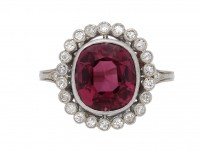 natural purple spinel and diamond ring berganza hatton garden