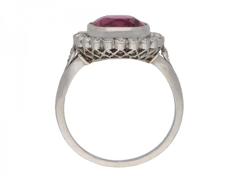 natural purple spinel and diamond ring berganza hatton garden