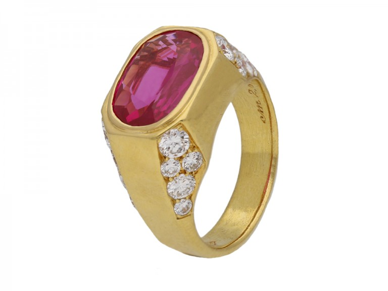 Bulgari Burmese ruby and diamond ring berganza hatton garden