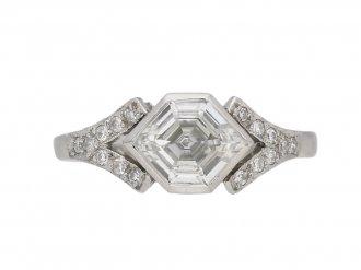 Hexagonal diamond ring berganza hatton garden